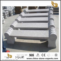 Natural Granite Stone Bench for Outdoor Garden