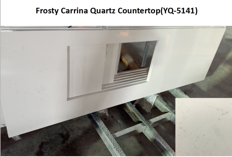 Frosty Carrina Quartz Countertop