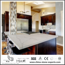 Beautiful Calacatta White Quartz Kitchen Countertops for Home Decoration(YQW-QC0629030)