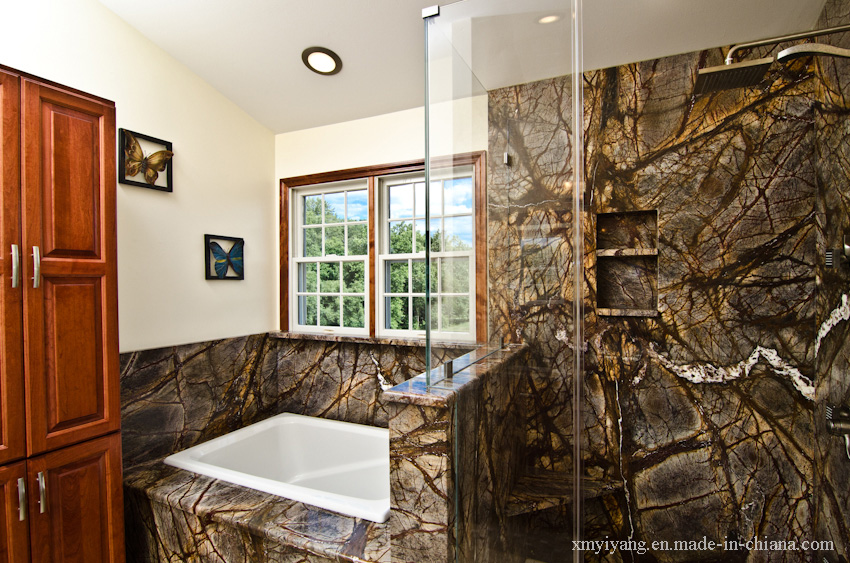 Rain forest green marble bathroom top wall tile kitchen countertop