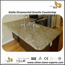 Hot-selling Giallo Ornamental granite kitchen countertops & bathroom vanity tops