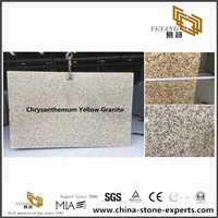 China Chrysanthemum Yellow Granite Slabs