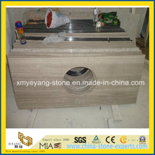 Athens Wooden Vein Marble Vanity Top / Countertop for Bathroom