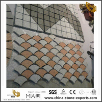 Grey White Granite Paving Stones for Outdoor Designs