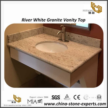 River White granite bathroom vanity top for hotel project