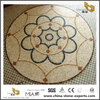 Yellow Round Marble Mosaic Medallion For Garden Floor And Others