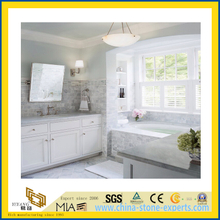 Natural Stone Polished East White Marble Countertop for Kitchen/Bathroom (YQC)