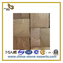 Natural Yellow Sandstone for Wall Tile and Cladding/Facade/Decoration Material(YQC)