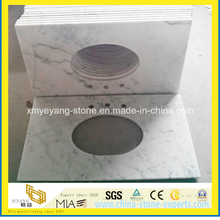Oriental White Marble Vanity Top for Hotel Bathroom