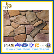 Yellow Rusty Multicolor Slate for Roofing, Flooring, Mushroom Tile(YQG-CS1007)