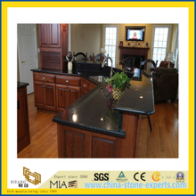 Natural Stone Polished Black Angola Granite Countertop for Kitchen/Bathroom (YQC)
