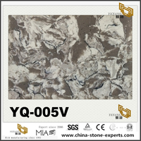 Light Grey Quartz YQ-005V Big Slabs With Good Price