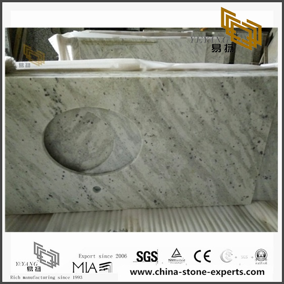 Diy Andromeda White Granite Countertops for Kitchen Design with good price(YQW-GC071403)