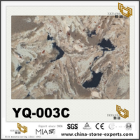 YQ-003C Brown Quartz Slabs For Quality Countertop