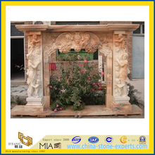 Home Decorative Sunset Red Marble Fireplace(YQG-LS1039)