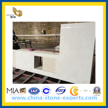 White Quartz Vanity Top for Bathroom, Hotel(YQG-CV1027)
