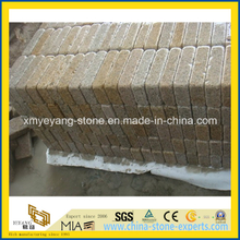 G682 Rusty Yellow Granite Tumbled Stone for outdoor Paving