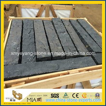 Natural Spilt Black Basalt Palisade for Outdoor Patio or Garden