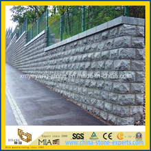 Grey or Black Granite Mushroom Stone Walling (G654/G684)