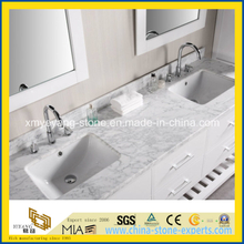 Calacatta White Marble Vanity Top for Hotel Bathroom
