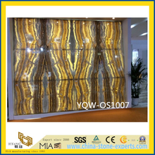 Translucent Yellow Onyx Stone Slab for Wall with Cheap Price