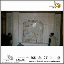 Hot selling White Marble Backgrounds for Hall,Bathroom Wall Design (YQW-MB072605)