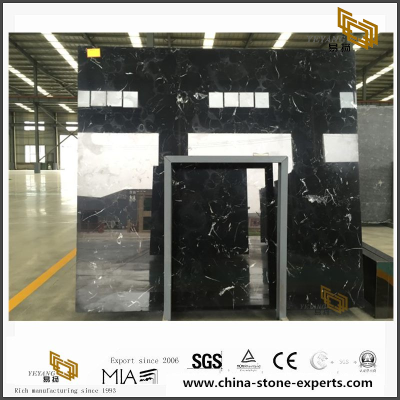 Wholesale New Black Ice Flower Marble for Home Design(YQW-MSB102104)