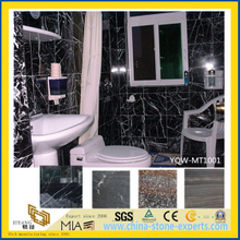 Polished Black Marble Stone Tiles for Kitchen & Barthroom Floor / Wall