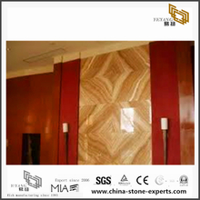 Wooden Yellow Marble for Background Design(YQN-082903)