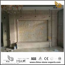 Luxury White Marble Background for Hall,Bathroom Wall Design (YQW-MB072601)