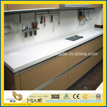 Prefabricated Pure White Quartz Kitchen Worktop or Countertop