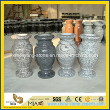 G664/G654/G603 Granite Flower Vase for Memorial Stone