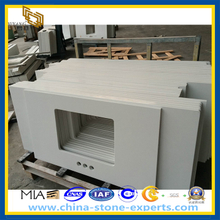Pure White Engineer Quartz Stone Vanity Top (YQZ-QC1006)