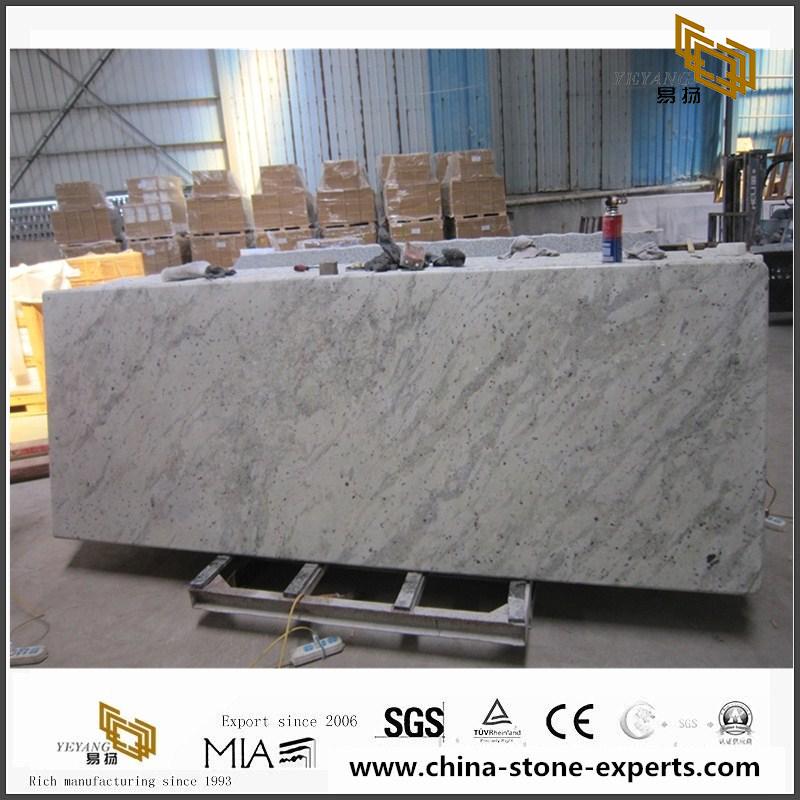 Andromeda White Prefab Granite Countertops Slabs